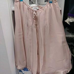 Calvin Klein pink blush skirt